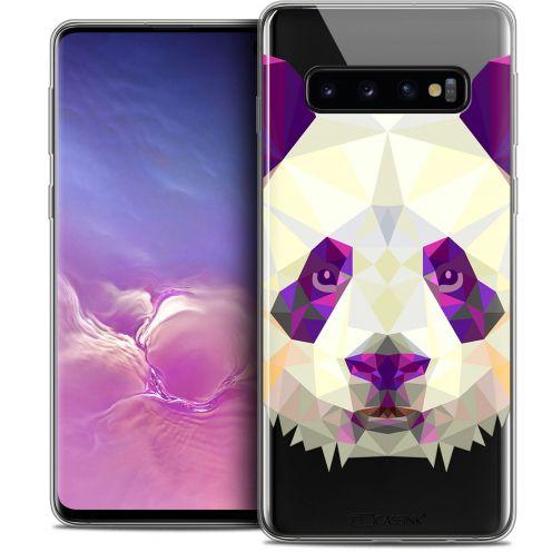 """Coque Crystal Gel Samsung Galaxy S10 (6.1"""") Extra Fine Polygon Animals - Panda"""