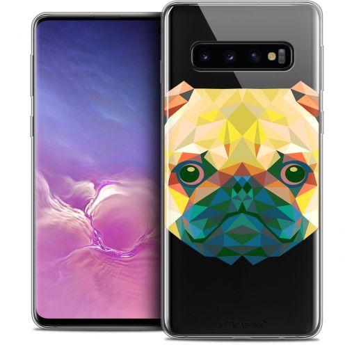 """Coque Crystal Gel Samsung Galaxy S10 (6.1"""") Extra Fine Polygon Animals - Chien"""