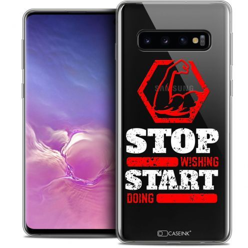 """Coque Crystal Gel Samsung Galaxy S10 (6.1"""") Extra Fine Quote - Start Doing"""