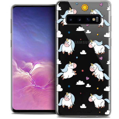 "Coque Crystal Gel Samsung Galaxy S10 (6.1"") Extra Fine Fantasia - Licorne In the Sky"