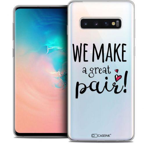 "Coque Crystal Gel Samsung Galaxy S10 (6.1"") Extra Fine Love - We Make Great Pair"