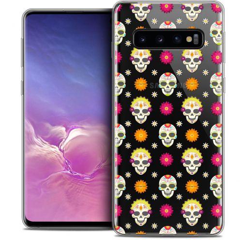 """Coque Crystal Gel Samsung Galaxy S10 (6.1"""") Extra Fine Halloween - Skull Halloween"""