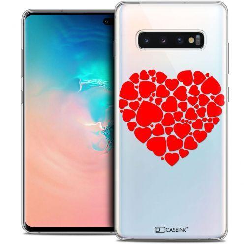 """Coque Crystal Gel Samsung Galaxy S10+ (6.4"""") Extra Fine Love - Coeur des Coeurs"""