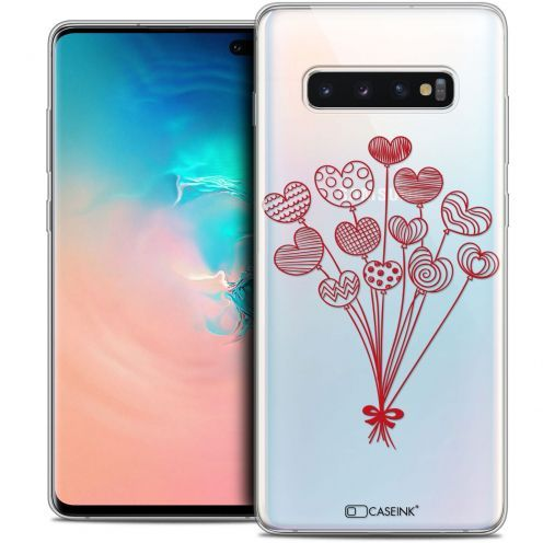 """Coque Crystal Gel Samsung Galaxy S10+ (6.4"""") Extra Fine Love - Ballons d'amour"""