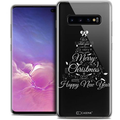 "Coque Crystal Gel Samsung Galaxy S10+ (6.4"") Extra Fine Noël 2017 - Calligraphie"