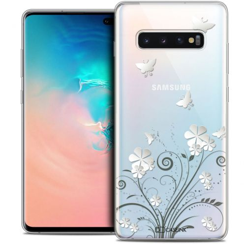 "Coque Crystal Gel Samsung Galaxy S10+ (6.4"") Extra Fine Summer - Papillons"