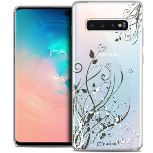 "Coque Crystal Gel Samsung Galaxy S10+ (6.4"") Extra Fine Love - Hearts Flowers"