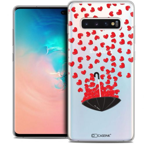 "Coque Crystal Gel Samsung Galaxy S10+ (6.4"") Extra Fine Love - Parapluie d'Amour"