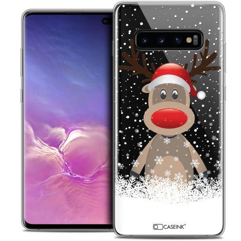 """Coque Crystal Gel Samsung Galaxy S10+ (6.4"""") Extra Fine Noël 2017 - Cerf au Bonnet"""
