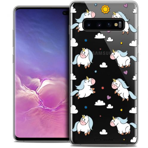 "Coque Crystal Gel Samsung Galaxy S10+ (6.4"") Extra Fine Fantasia - Licorne In the Sky"
