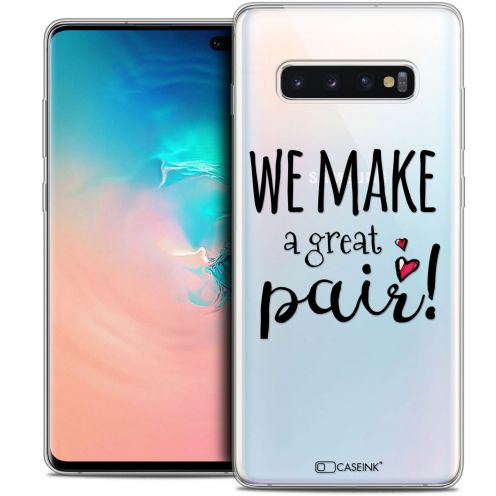 "Coque Crystal Gel Samsung Galaxy S10+ (6.4"") Extra Fine Love - We Make Great Pair"