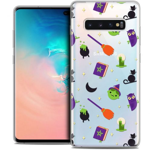"Coque Crystal Gel Samsung Galaxy S10+ (6.4"") Extra Fine Halloween - Witch Potter"