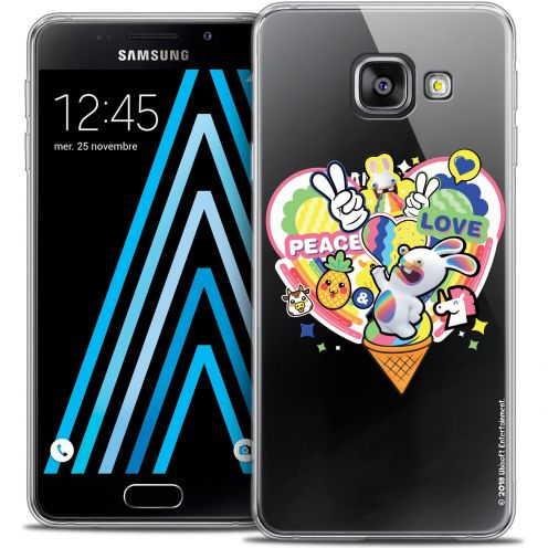Coque Galaxy A3 2016 (A310) Extra Fine Lapins Crétins™ - Peace And Love