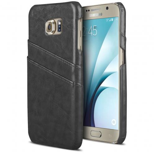 Coque Samsung Galaxy S6 Business Series Porte-Carte Arrière Noir