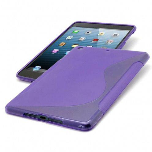 Photo réelle de Coque iPad Mini Tpu Basics S-Line Violet