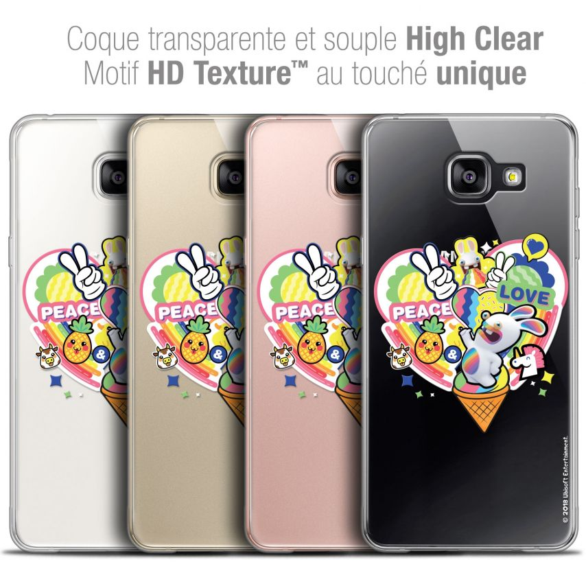 Coque Galaxy A5 2016 (A510) Extra Fine Lapins Crétins™ - Peace And Love