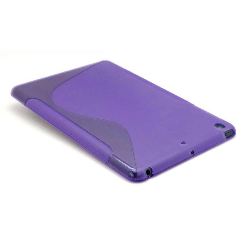 Vue complémentaire de Coque iPad Mini Tpu Basics S-Line Violet