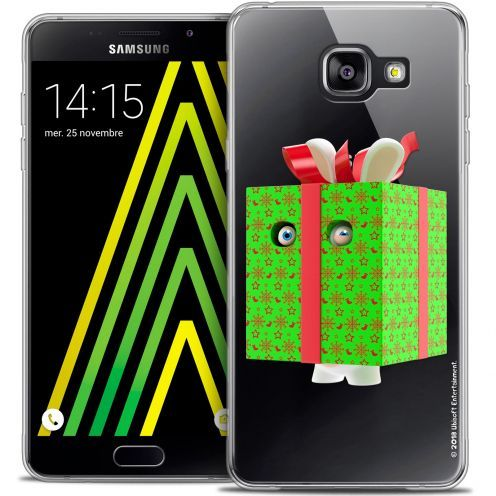 Coque Galaxy A5 2016 (A510) Extra Fine Lapins Crétins™ - Lapin Surprise Vert