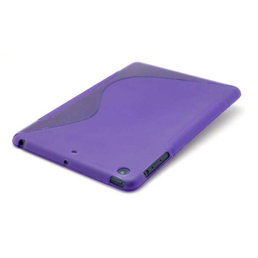 Vue portée de Coque iPad Mini Tpu Basics S-Line Violet