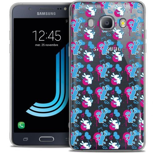 Coque Galaxy J5 2016 (J510) Extra Fine Lapins Crétins™ - Rugby Pattern