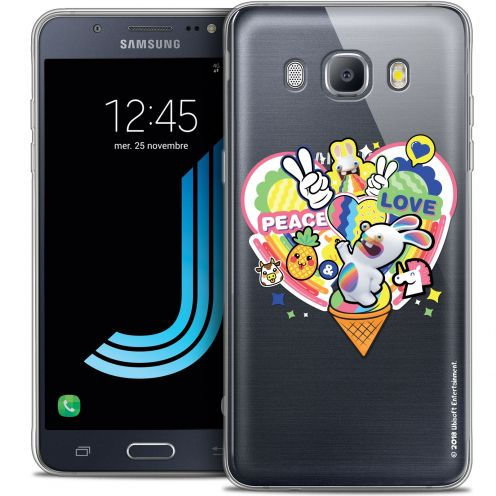 Coque Galaxy J5 2016 (J510) Extra Fine Lapins Crétins™ - Peace And Love