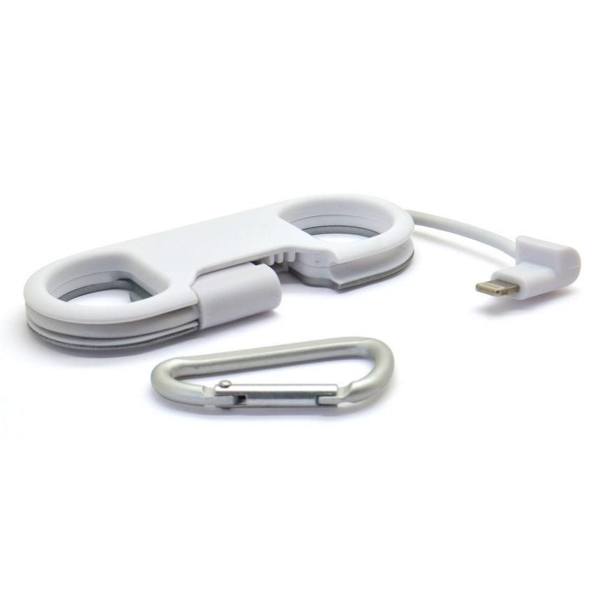 Vue détaillée de Câble Décapsuleur USB à 8 Pins iOS9 Fast Charge - iPhone 6S/6 Plus/5/S/C Blanc