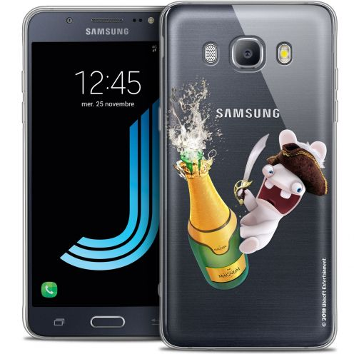 Coque Galaxy J7 2016 (J710) Extra Fine Lapins Crétins™ - Champagne !