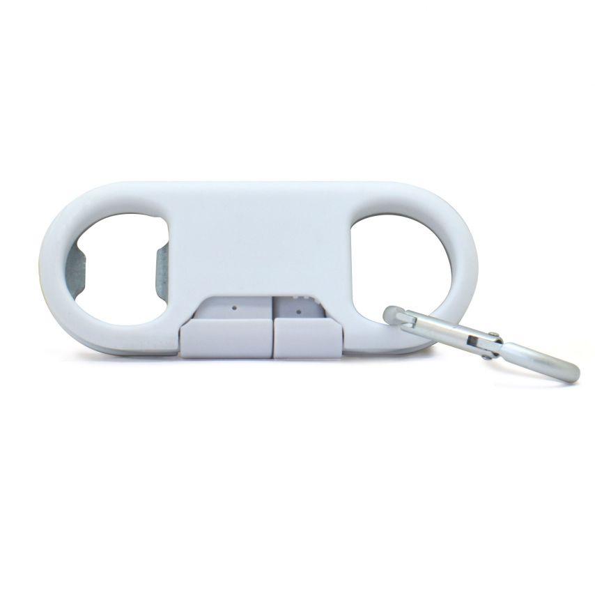 Vue complémentaire de Câble Décapsuleur USB à 8 Pins iOS9 Fast Charge - iPhone 6S/6 Plus/5/S/C Blanc