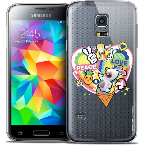 Coque Galaxy S5 Mini Extra Fine Lapins Crétins™ - Peace And Love