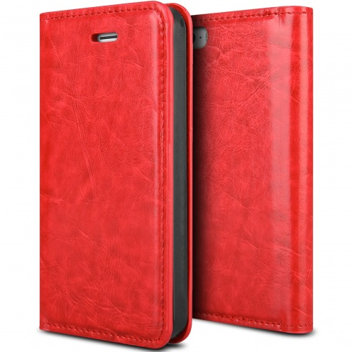 Visuel unique de Etui Apple iPhone 5/5s ProSkin Folio Smart Magnet Rouge