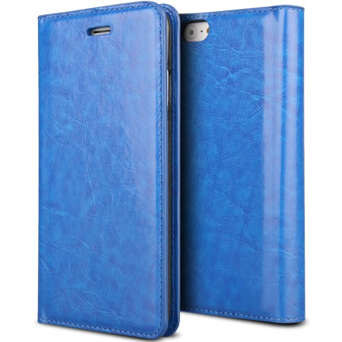 Visuel unique de Etui Apple iPhone 6/6s ProSkin Folio Smart Magnet Bleu