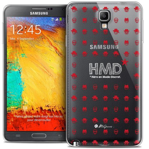 Coque Galaxy Note 3 Neo / Lite Extra Fine Petits Grains® - HMD* Hero en Mode Discret