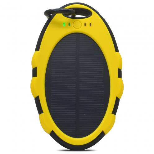Batterie Externe Solaire SolarCharge 5000 mAh 2xUSB 1.0A Jaune