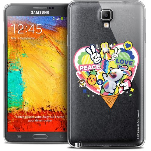 Coque Galaxy Note 3 Neo / Lite Extra Fine Lapins Crétins™ - Peace And Love