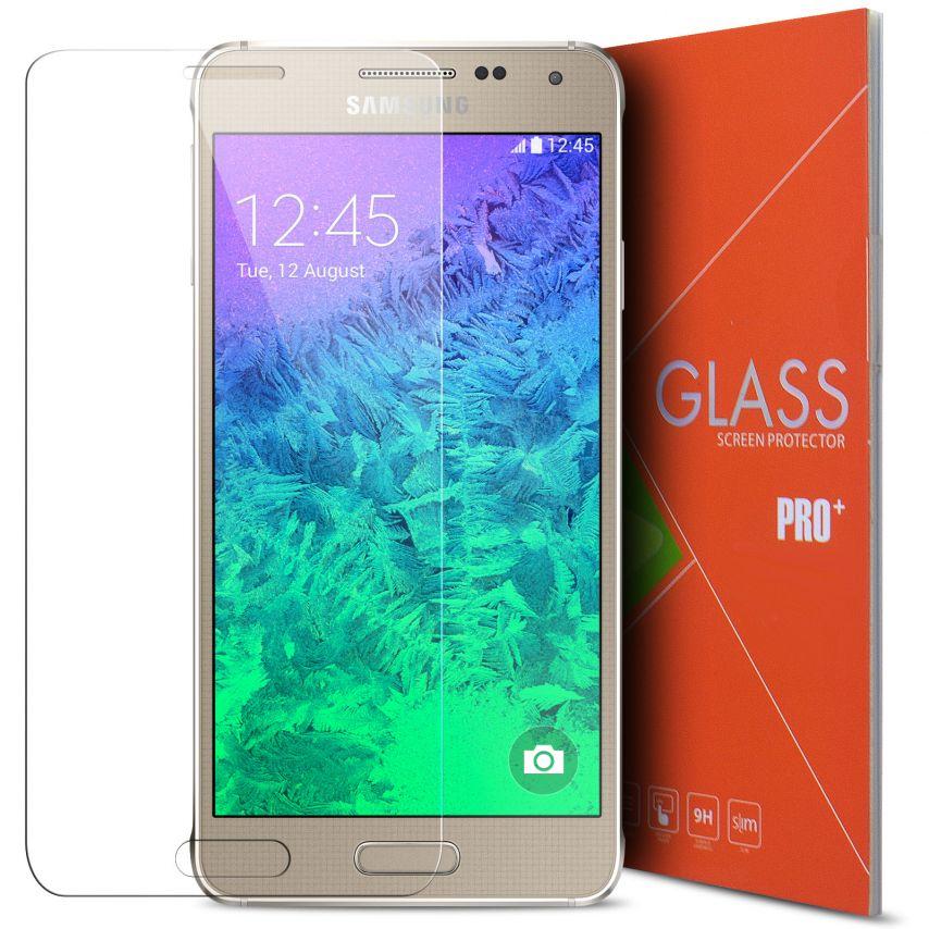 Vue détaillée de Protection d'écran Verre trempé Samsung Galaxy Alpha - 9H Glass Pro+ HD 2.5D