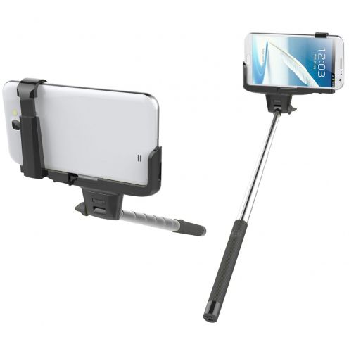 Photo réelle de Perche Selfie Stick Universel Bluetooth 20-100 cm Noir