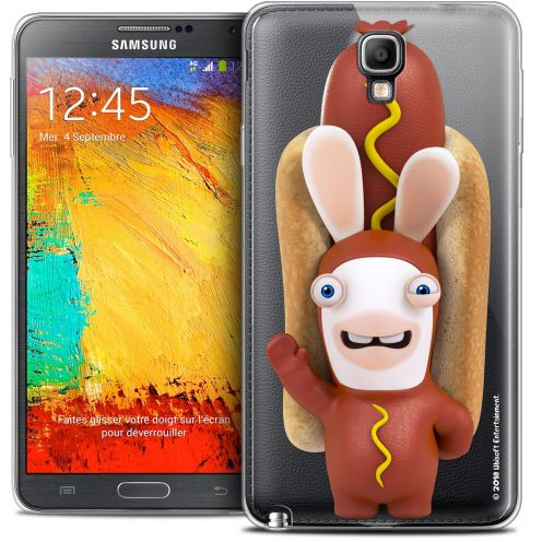 Coque Galaxy Note 3 Neo / Lite Extra Fine Lapins Crétins™ - Hot Dog Crétin