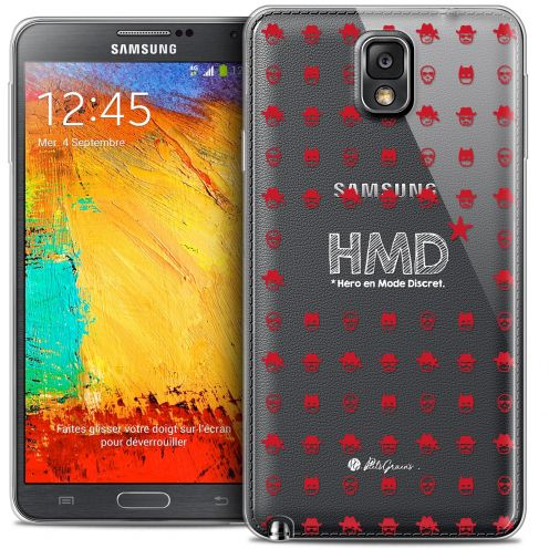 Coque Galaxy Note 3 Extra Fine Petits Grains® - HMD* Hero en Mode Discret