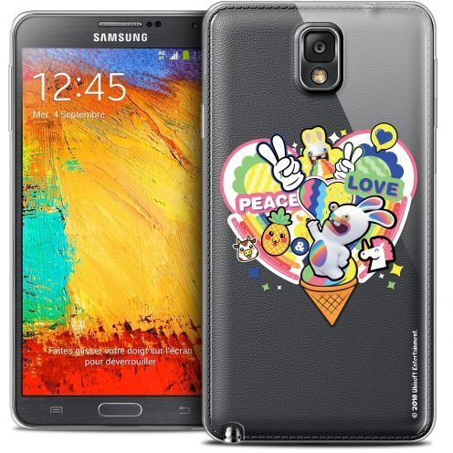 Coque Galaxy Note 3 Extra Fine Lapins Crétins™ - Peace And Love