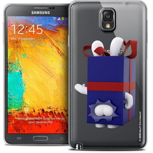 Coque Galaxy Note 3 Extra Fine Lapins Crétins™ - Lapin Surprise Bleu