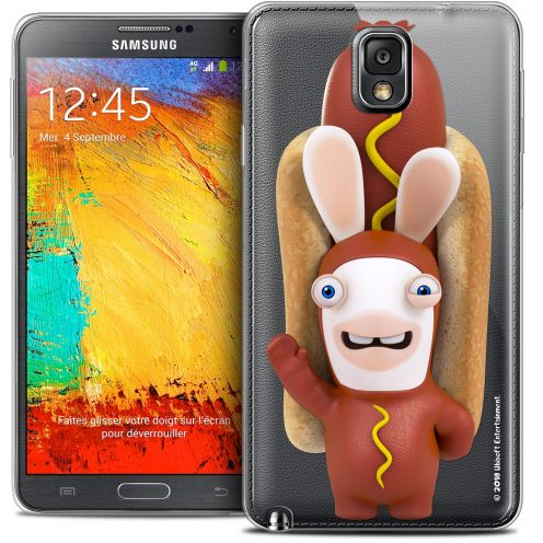 Coque Galaxy Note 3 Extra Fine Lapins Crétins™ - Hot Dog Crétin