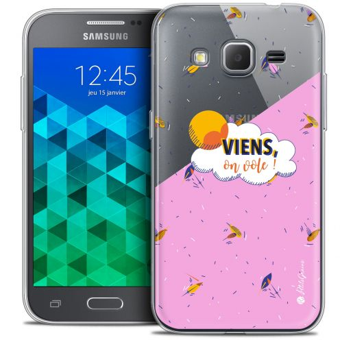 Coque Samsung Galaxy Core Prime (G360) Extra Fine Petits Grains® - VIENS, On Vole !