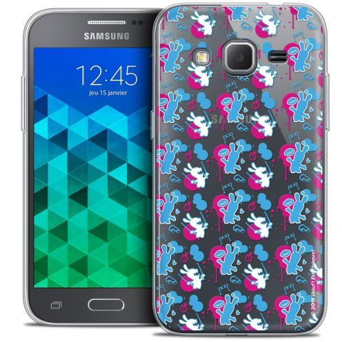 Coque Samsung Galaxy Core Prime (G360) Extra Fine Lapins Crétins™ - Rugby Pattern