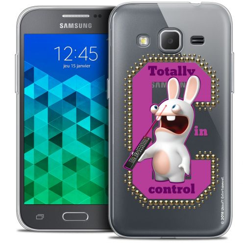 Coque Samsung Galaxy Core Prime (G360) Extra Fine Lapins Crétins™ - In Control !