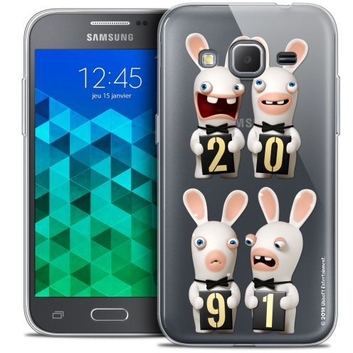 Coque Samsung Galaxy Core Prime (G360) Extra Fine Lapins Crétins™ - New Year