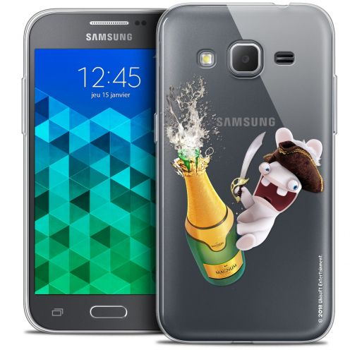 Coque Samsung Galaxy Core Prime (G360) Extra Fine Lapins Crétins™ - Champagne !