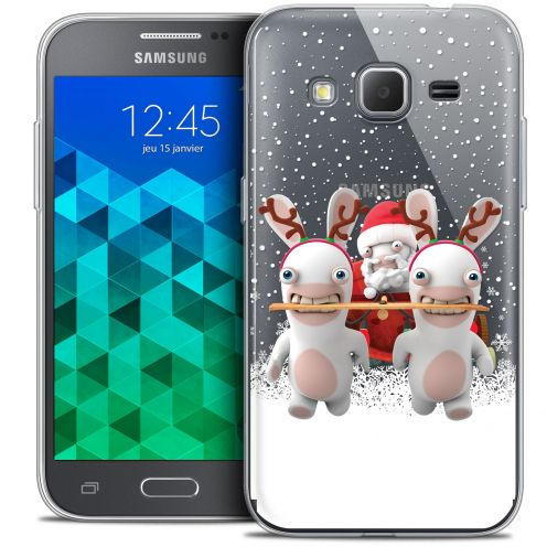 Coque Samsung Galaxy Core Prime (G360) Extra Fine Lapins Crétins™ - Lapin Traineau