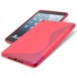 Vue complémentaire de Coque iPad Mini Tpu Basics S-Line Rouge