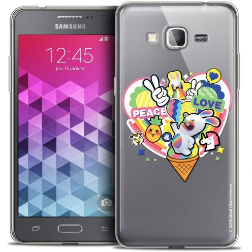 Coque Galaxy Grand Prime Extra Fine Lapins Crétins™ - Peace And Love