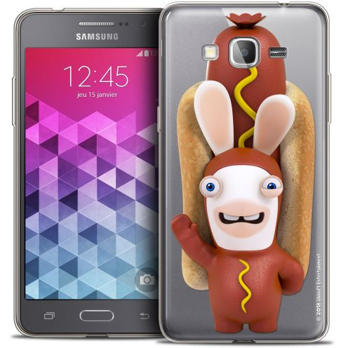 Coque Galaxy Grand Prime Extra Fine Lapins Crétins™ - Hot Dog Crétin